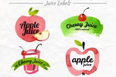 6款美味果汁标签矢量素材