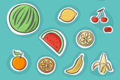 14款彩绘水果设计矢量素材