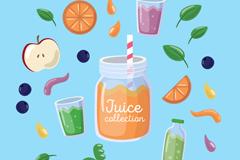 9款彩色水果和果汁矢量素材