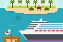 夏季度假村和游轮矢量素材