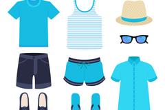 9款时尚夏季男士服饰矢量素材