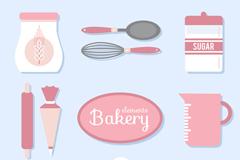 10款粉色烘培工具矢量素材