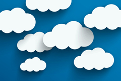 白色质感云朵设计矢量图