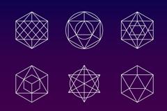 9款抽象图案标志图形矢量素材