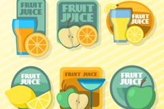 6款精美水果汁标签矢量素材