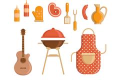 11款可爱烧烤野餐元素矢量图