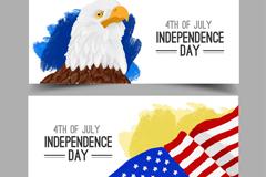 2款创意美国独立日banner矢量素材