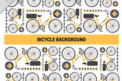 创意单车无缝背景矢量素材