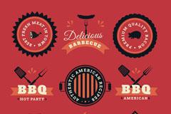 9款创意烧烤BBQ标签矢量素材