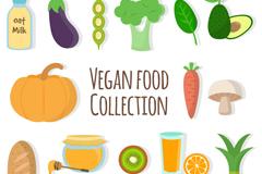 16款彩色素食食物矢量素材