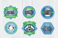 9款精致摄影棚标签矢量素材
