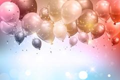 彩色梦幻l质感气球背景矢量w88优德