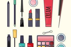 15款彩绘化妆品设计矢量素材