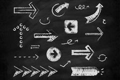 19款黑板画箭头设计矢量素材
