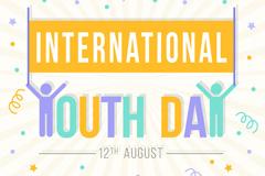 创意国际青年日贺卡矢量素材