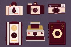 6款复古照相机设计矢量素材