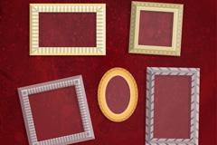 5款复古相框设计矢量素材