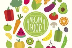 26种健康素食食物矢量图