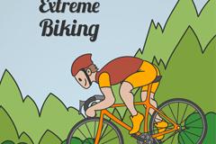 极限自行车运动男子矢量素材