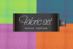 4款彩色织物质地背景矢量素材