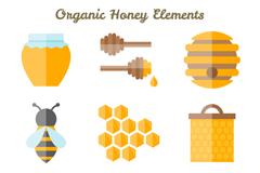 9款扁平化蜂蜜元素矢量素材