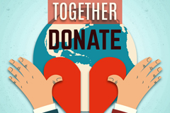 创意爱心慈善捐献海报矢量素材