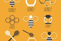 9款精致蜂蜜元素图标矢量素材