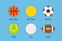 6款彩色奥运会球类矢量素材