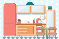 彩色整洁厨房优发娱乐官网矢量优发娱乐