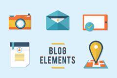 8款精致博客元素图标矢量素材