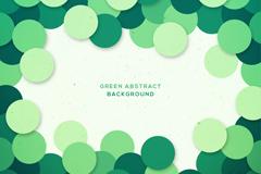 绿色质感圆形装饰框架矢量素材