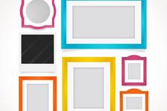 7款彩色空白相框设计矢量w88优德