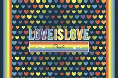 复古爱心爱就是爱挂画矢量图