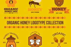 6款精美有机蜂蜜标志矢量梦之城娱乐