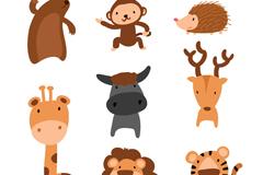 8款可爱卡通动物矢量素材