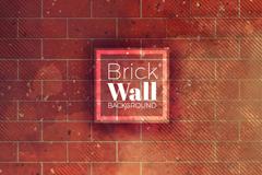 创意红砖墙背景矢量素材