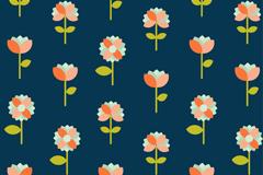 扁平化花朵无缝背景矢量梦之城娱乐