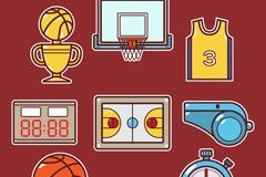 9款创意篮球元素矢量素材