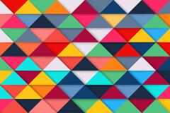 彩色三角拼格背景矢量素材