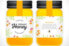 美味玻璃瓶装蜂蜜矢量素材