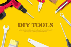 11款创意DIY工具设计矢量图