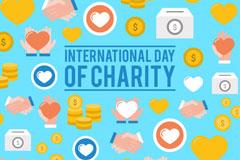 扁平化国际慈善日贺卡矢量素材