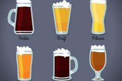 6款杯装啤酒设计矢量素材