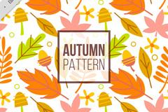 秋季叶子无缝背景矢量素材