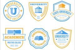 6款扁平化大学标志矢量素材