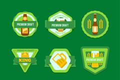 9款绿色优质啤酒标签矢量素材
