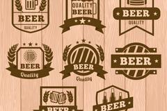 8款优质啤酒徽章矢量素材