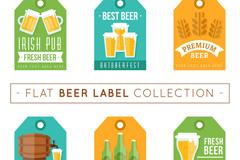 6款彩色啤酒标签矢量素材