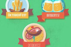 3款创意慕尼黑啤酒节标签矢量图