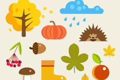 12款彩色秋季元素矢量齐乐娱乐